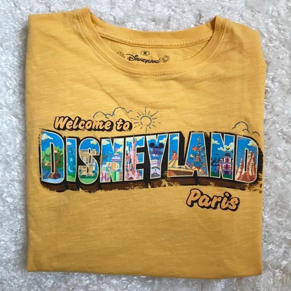 91f042bdb2203 Rare Disneyland Paris Graphic Logo Tshirt